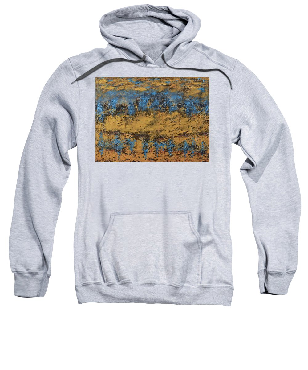 Original Sweatshirt featuring the painting Letting Go by Jim Benest