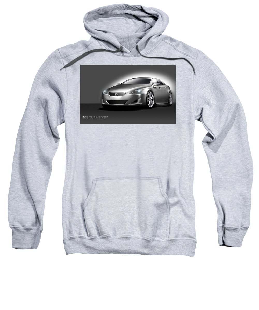Lexus Sweatshirt featuring the digital art Lexus by Bert Mailer