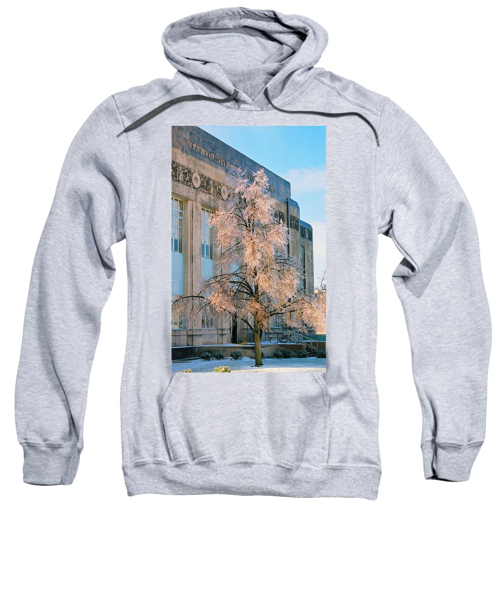 Architecture Sweatshirt featuring the photograph Liberty Court House by Steve Karol