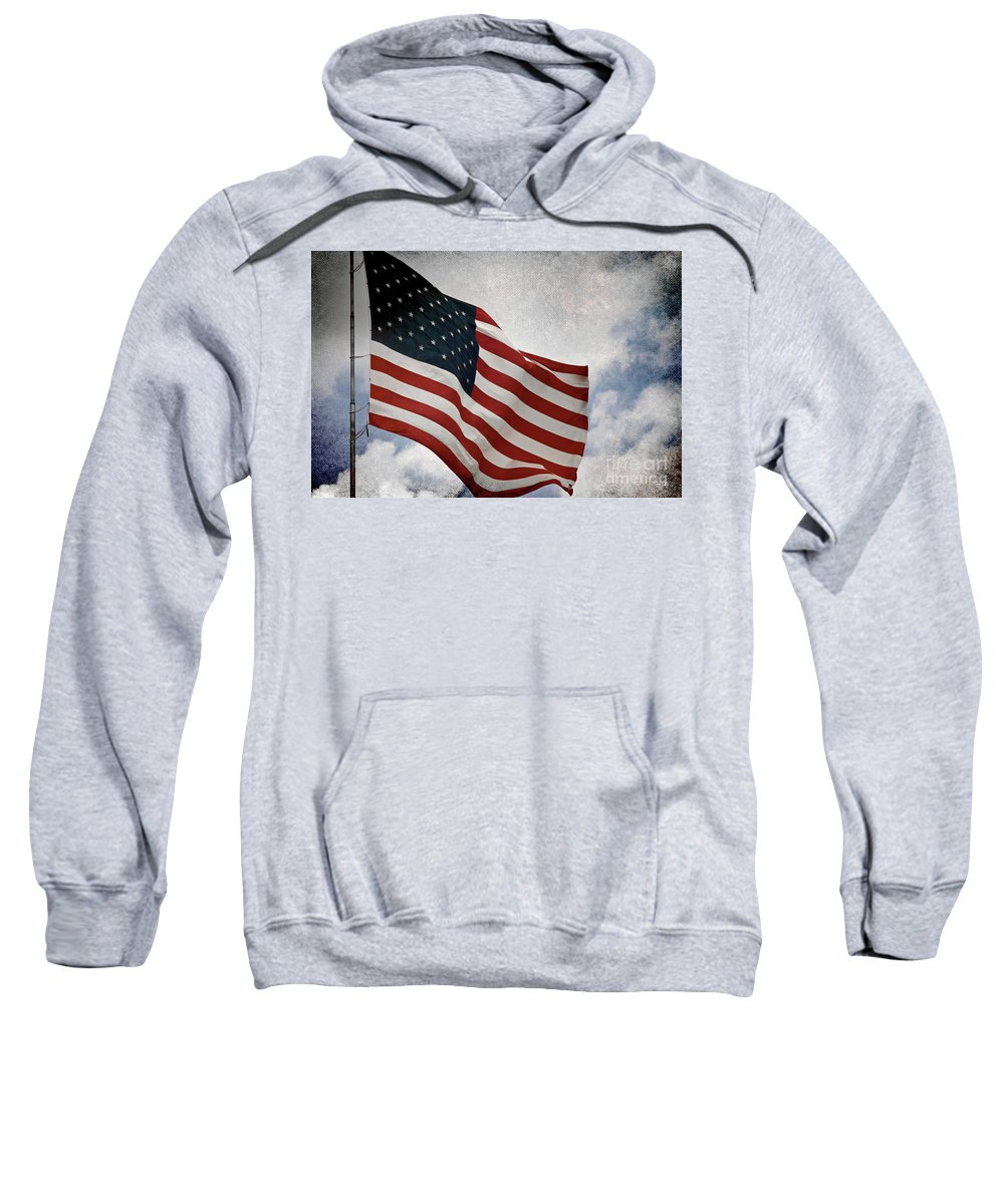 Flag Sweatshirt featuring the photograph Liberty by Scott Pellegrin