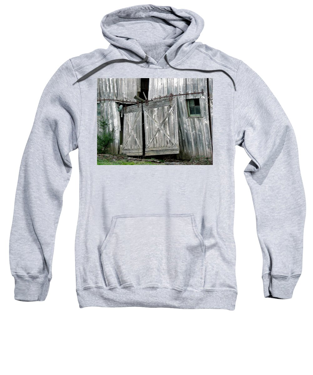 Barn Sweatshirt featuring the digital art Life Among The Ruins by RC DeWinter