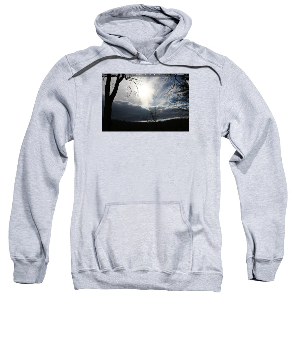 Sweatshirt featuring the painting Life And Death by Cheyanna Muhlert