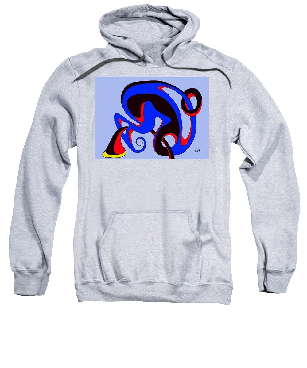 \ Sweatshirt featuring the digital art Life circuits by Helmut Rottler