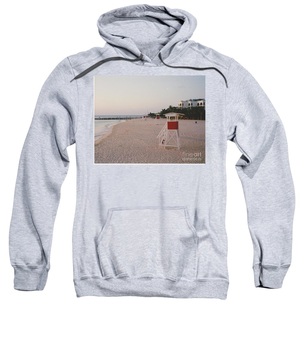 Water Sweatshirt featuring the photograph Life Guard 3 D by Michelle Powell