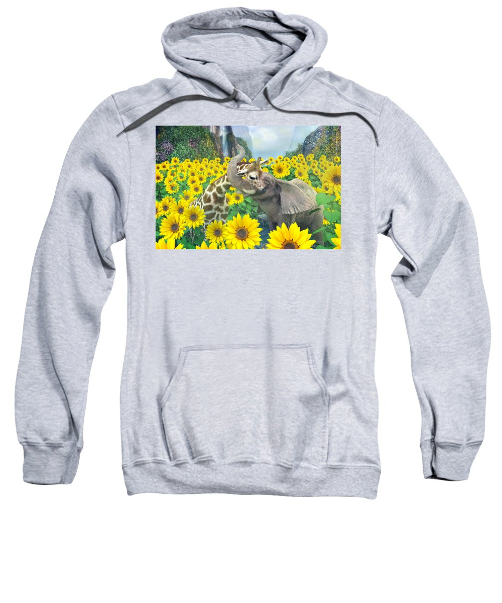 Sunflower Sweatshirt featuring the digital art Life Is Good by Betsy Knapp