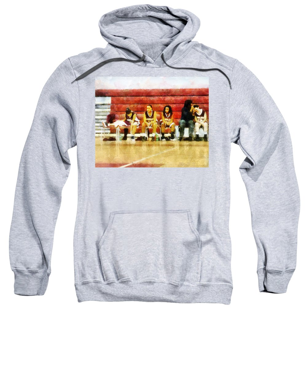 Bench Sweatshirt featuring the digital art Life On The Bench by Francesa Miller