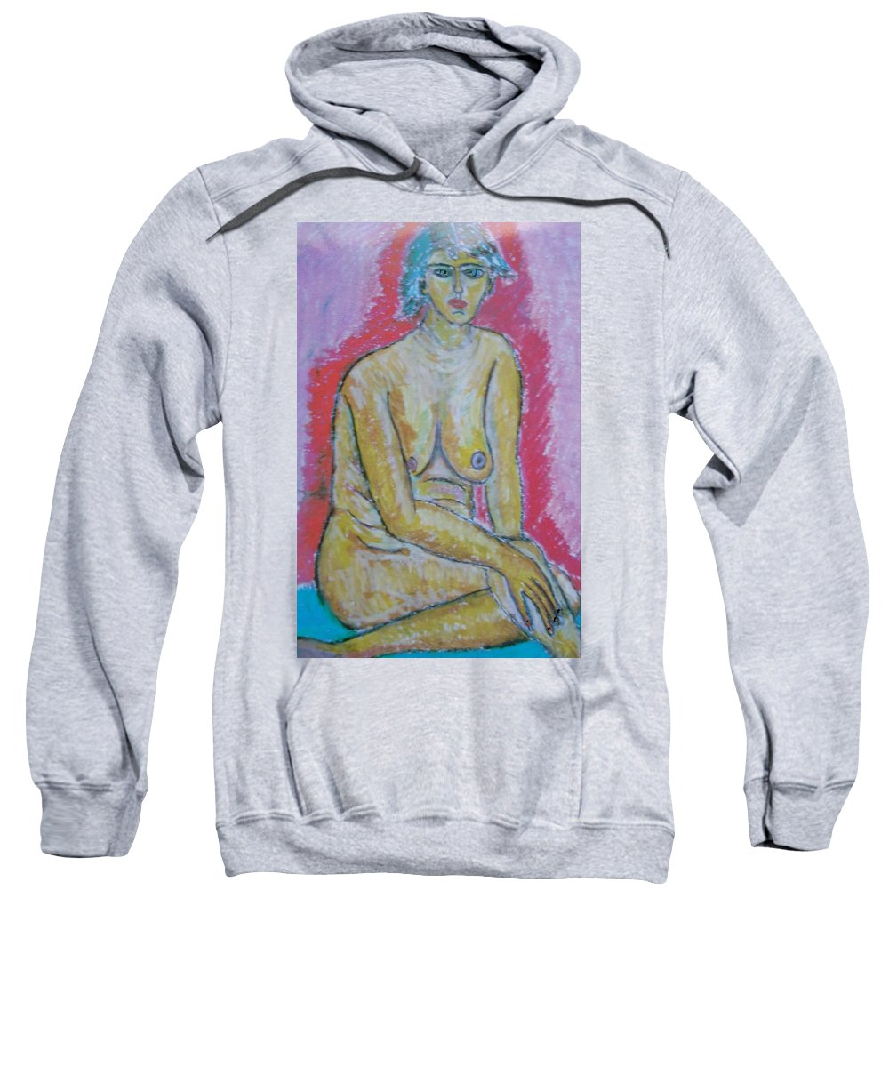 Sweatshirt featuring the painting Life Study Of The Female Figure 07 by Beppe Fassina