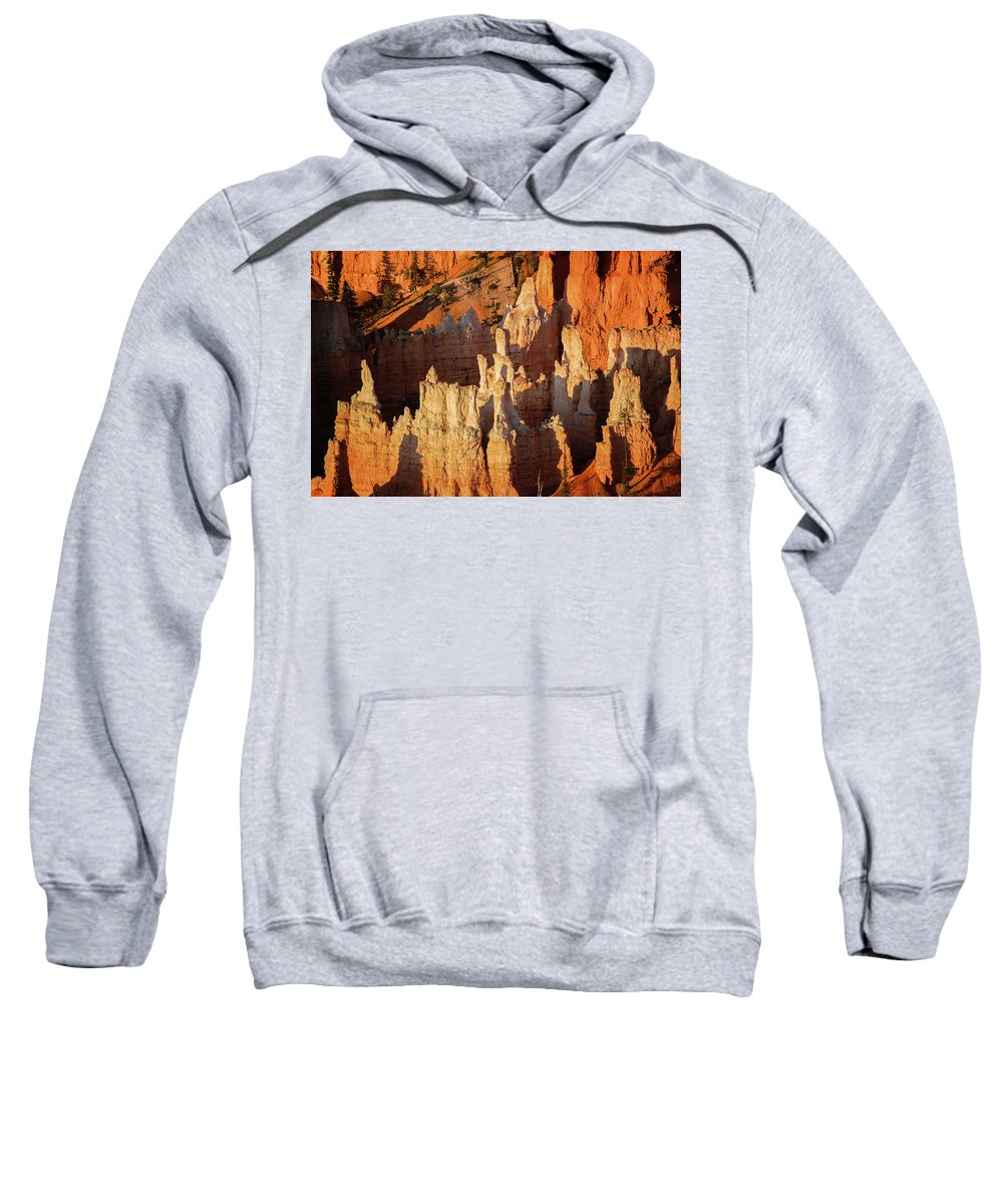 Bryce Canyon Sweatshirt featuring the photograph Light And Shadows by Bob Cuthbert
