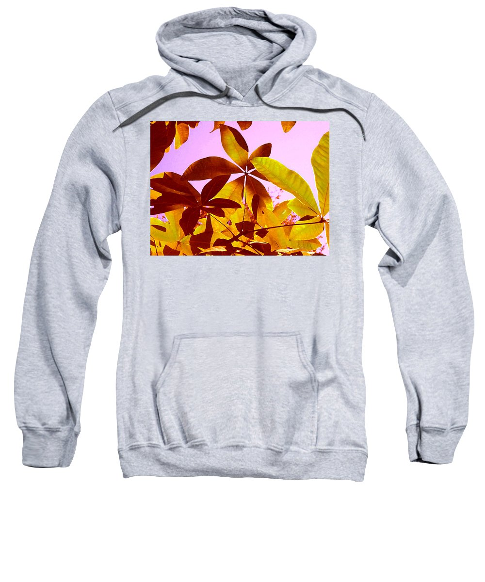 Garden Sweatshirt featuring the painting Light Coming Through Tree Leaves 1 by Amy Vangsgard