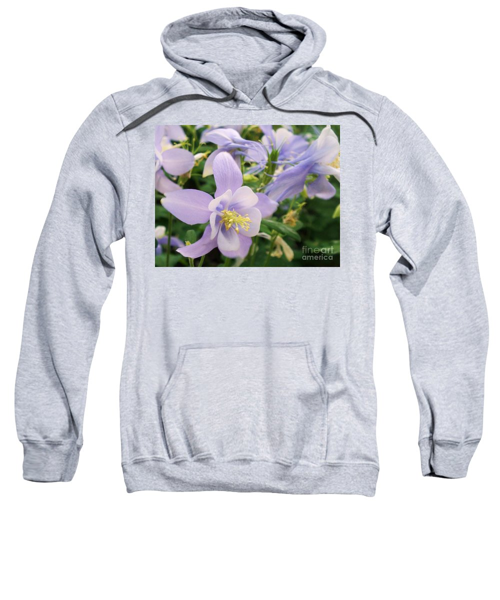 Flowers Sweatshirt featuring the painting Light Lavender Flowers by Eric Schiabor