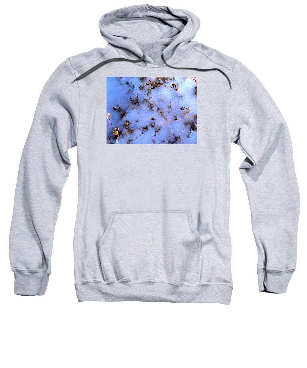 Abstract Sweatshirt featuring the digital art Light Snow In The Woods by Dave Martsolf