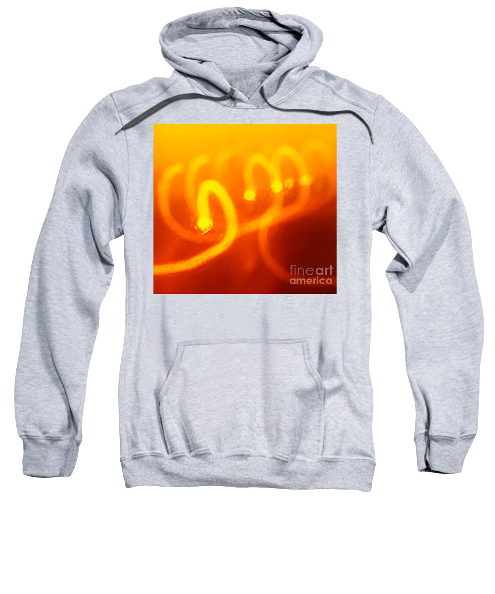 Abstract Sweatshirt featuring the photograph Light Trail Abstract by Gaspar Avila