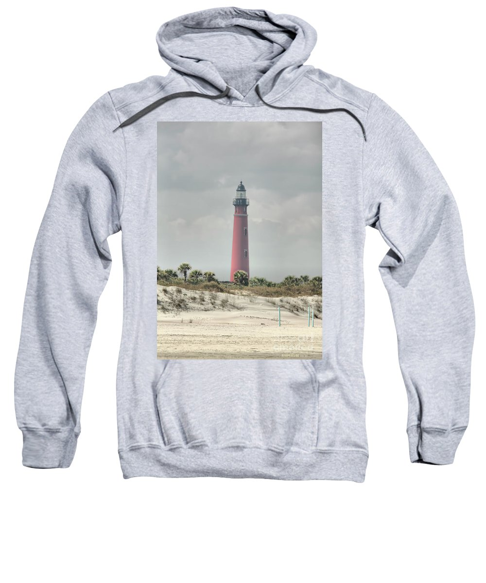 Lighthouse Sweatshirt featuring the photograph Lighthouse At Ponce Inlet by Deborah Benoit