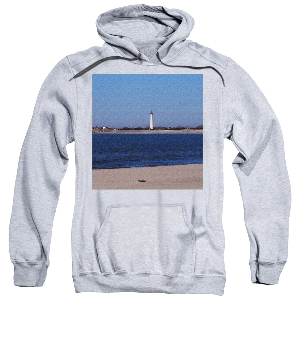 Lighthouse Sweatshirt featuring the photograph Lighthouse At The Point by Pharris Art