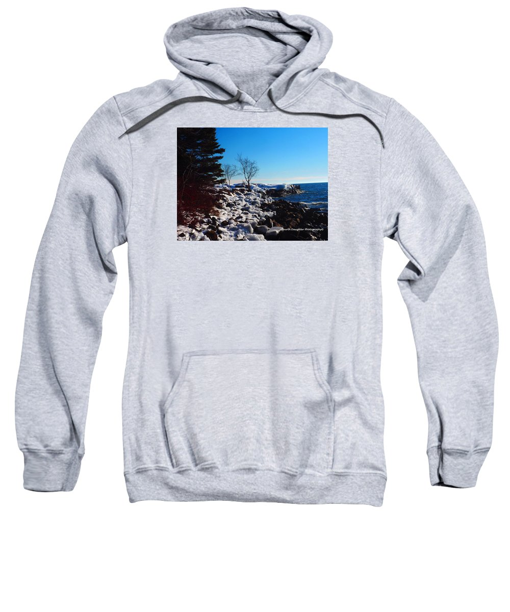 Lighthouse Sweatshirt featuring the photograph Lighthouse Point by Diane Shirley