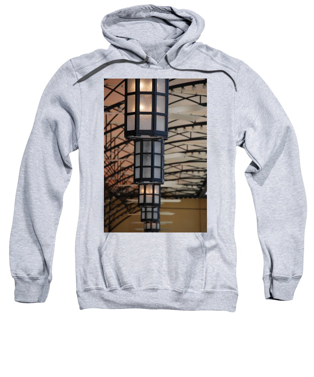 Architecture Sweatshirt featuring the photograph Lights At City Place by Rob Hans