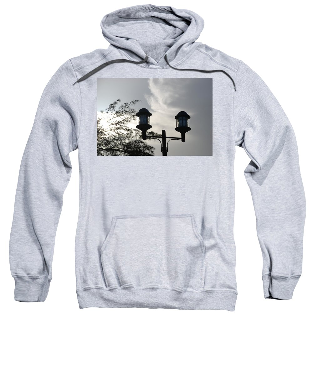 Sunset Sweatshirt featuring the photograph Lights In The Sky by Rob Hans