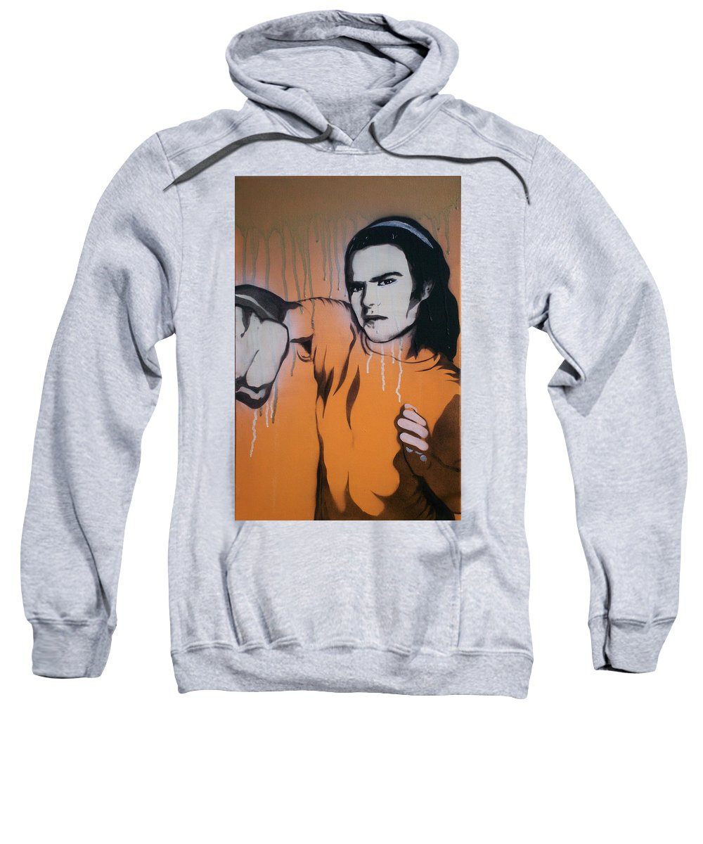 Lights Out Sweatshirt featuring the painting Lights Out by Gary Hogben