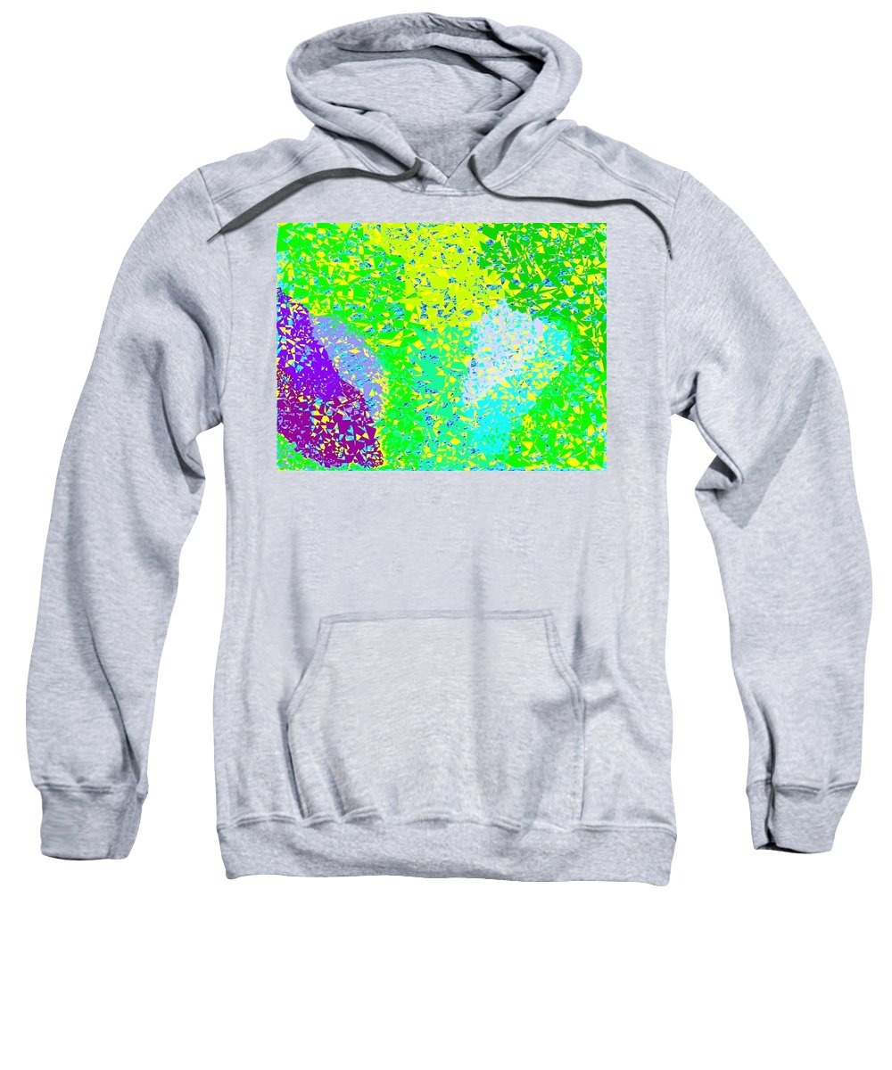 Abstract Sweatshirt featuring the digital art Lilac Lane by Will Borden