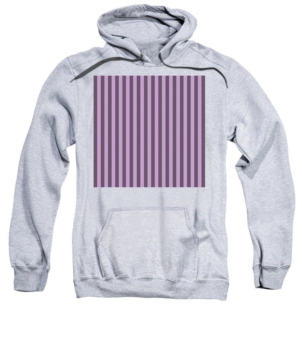 Lilac Sweatshirt featuring the digital art Lilac Purple Striped Pattern Design by Ross
