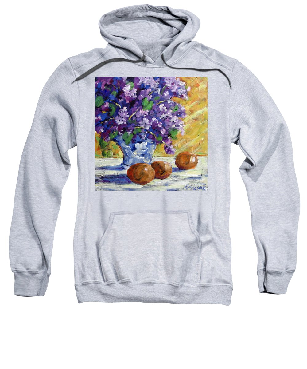 Art Sweatshirt featuring the painting Lilac by Richard T Pranke