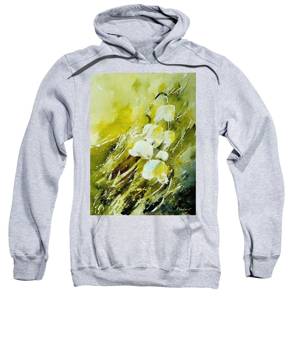 Flowers Sweatshirt featuring the painting Lilly Of The Valley by Pol Ledent