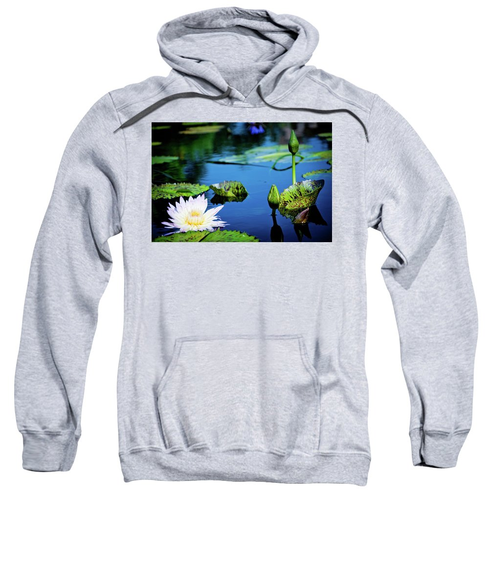 Lilly Pad Sweatshirt featuring the photograph Lilly Pad by Angie Covey