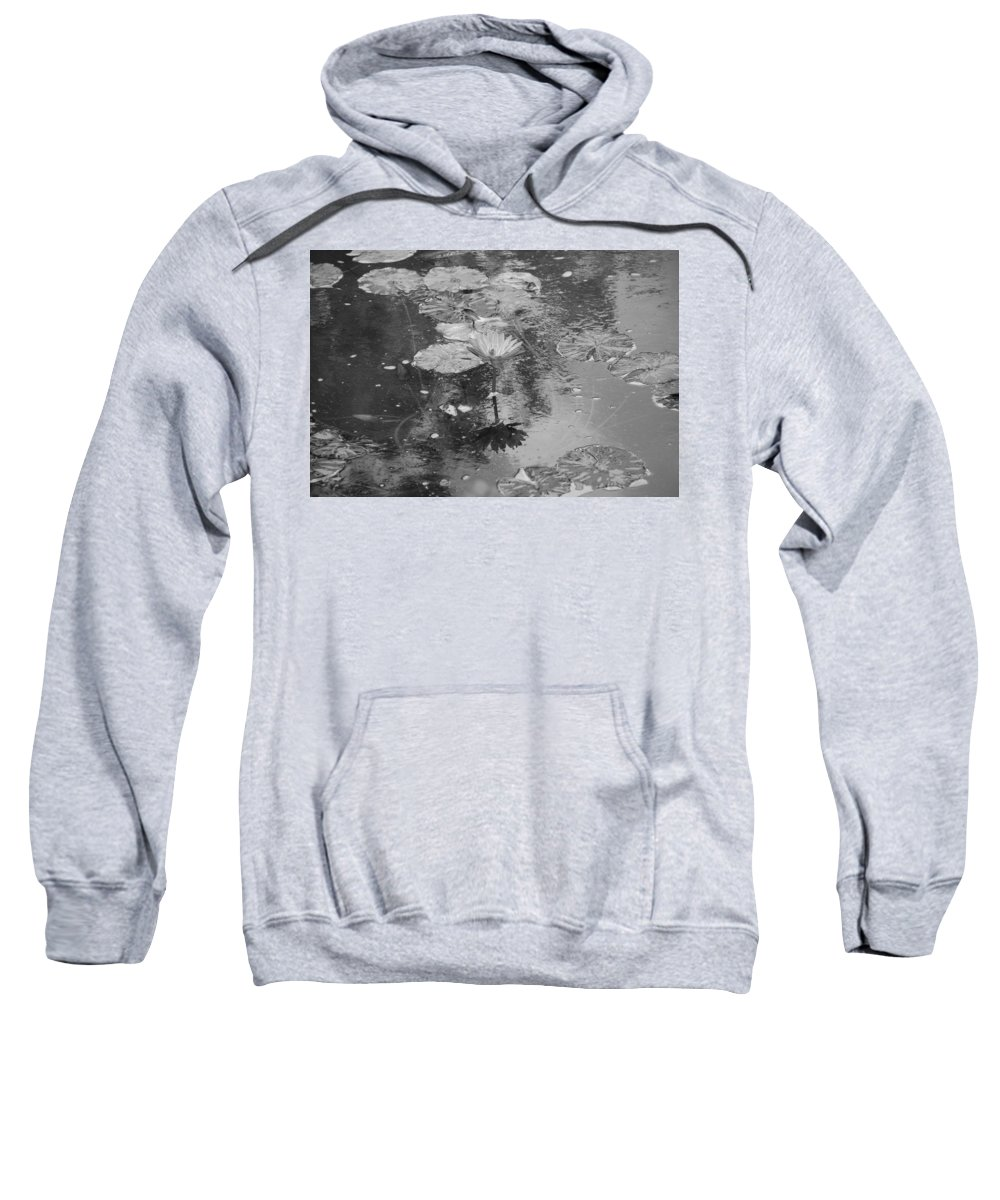 Lilly Pond Sweatshirt featuring the photograph Lilly Pond by Rob Hans