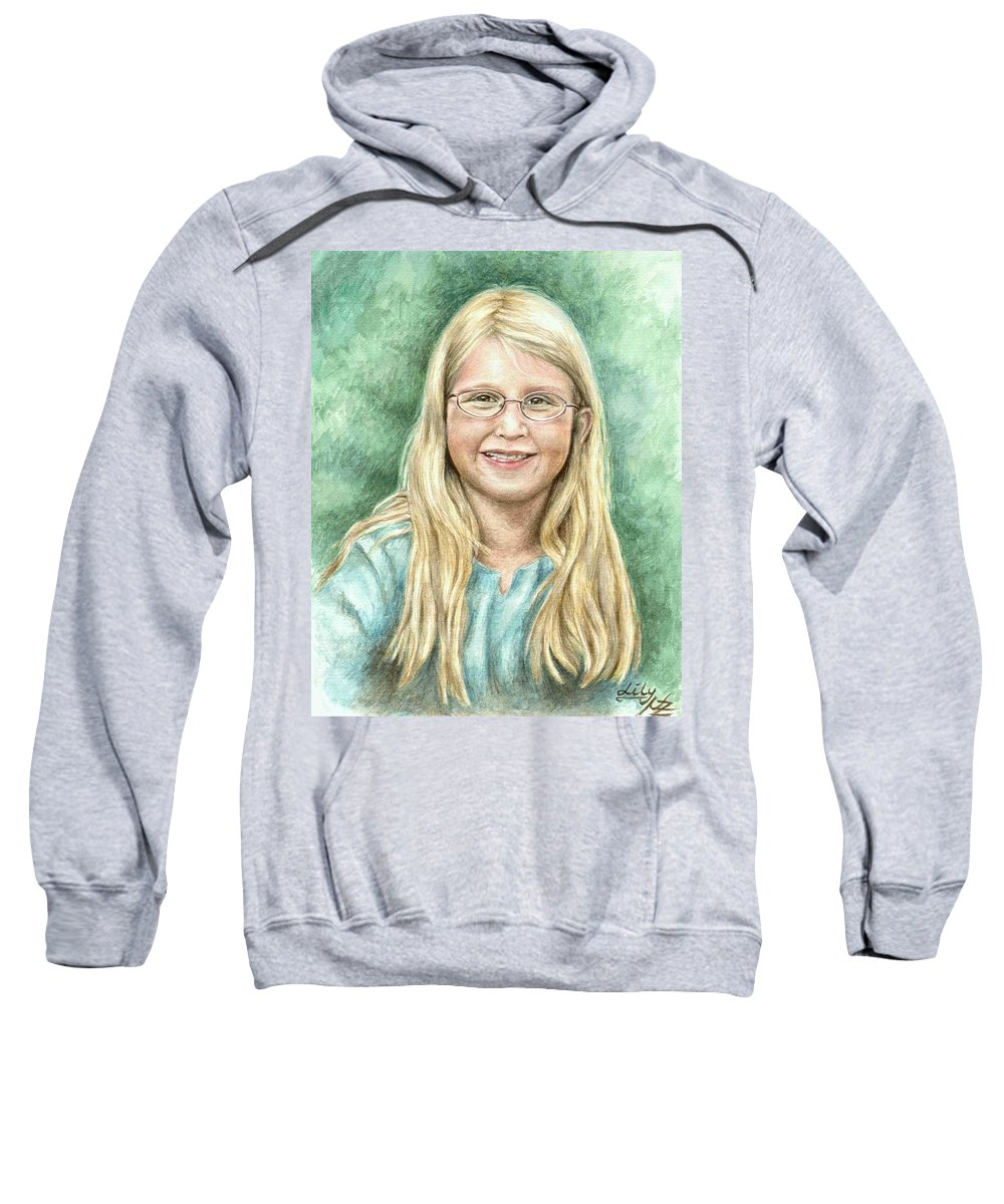 Girl Sweatshirt featuring the painting Lily by Nicole Zeug