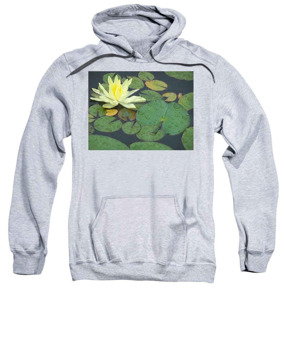Lilypad Sweatshirt featuring the photograph Lilypad by Joan Gal-Peck