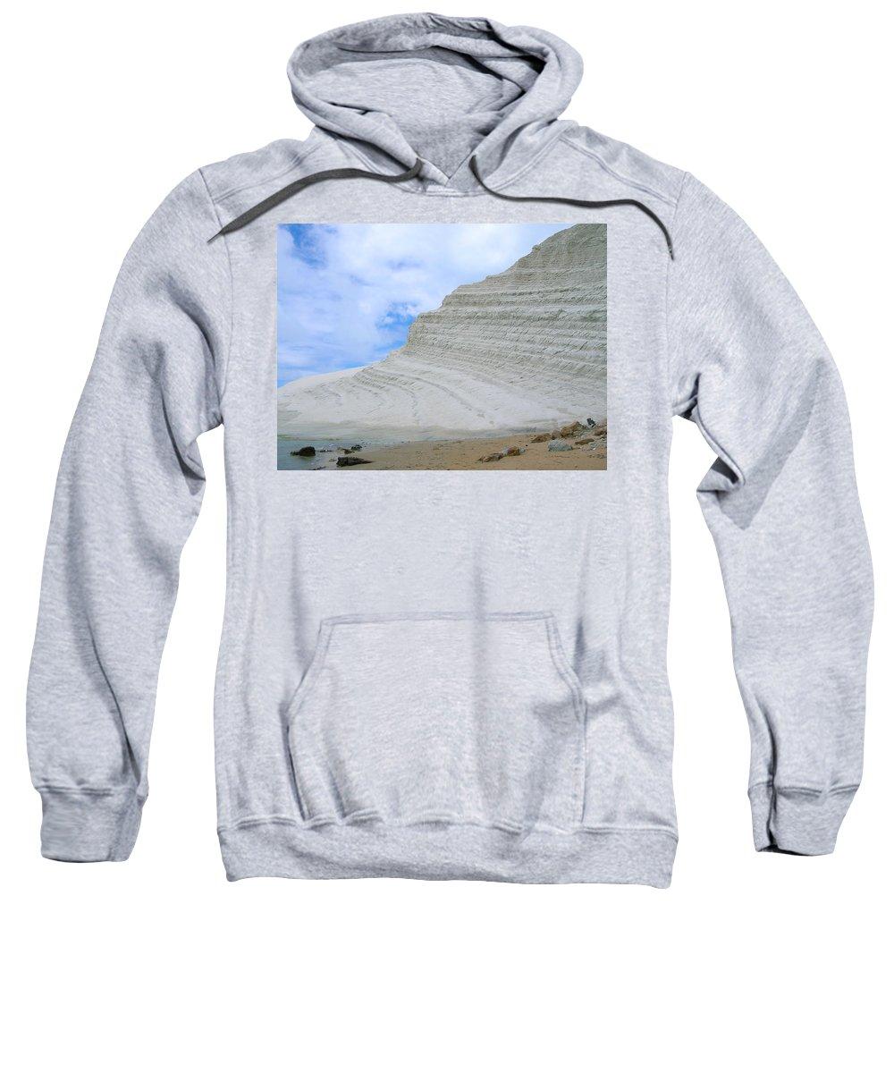 Limestone Sweatshirt featuring the photograph Limestone Cliffs by Stefania Levi