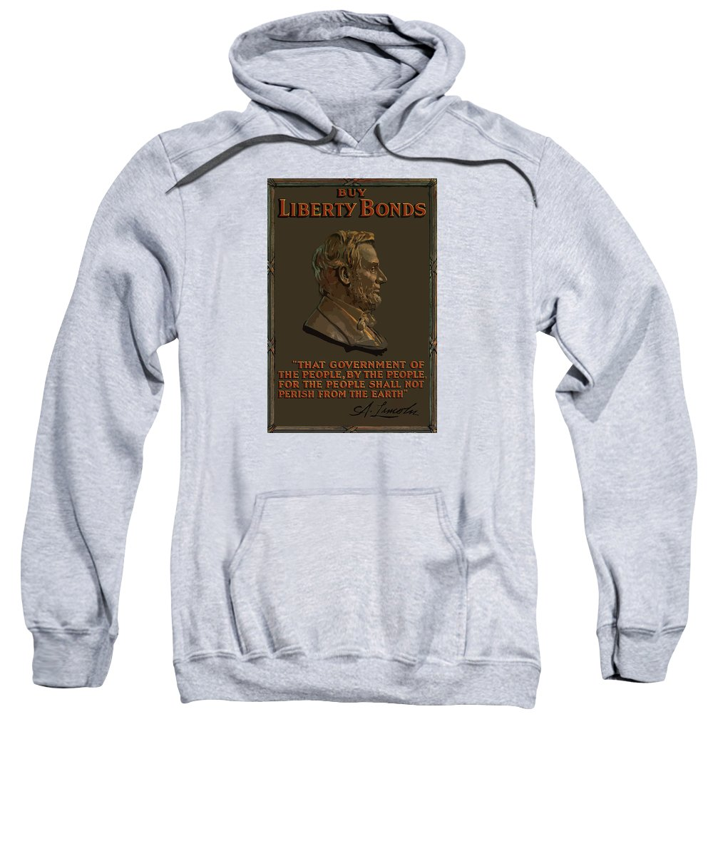 Abe Lincoln Sweatshirt featuring the painting Lincoln Gettysburg Address Quote by War Is Hell Store