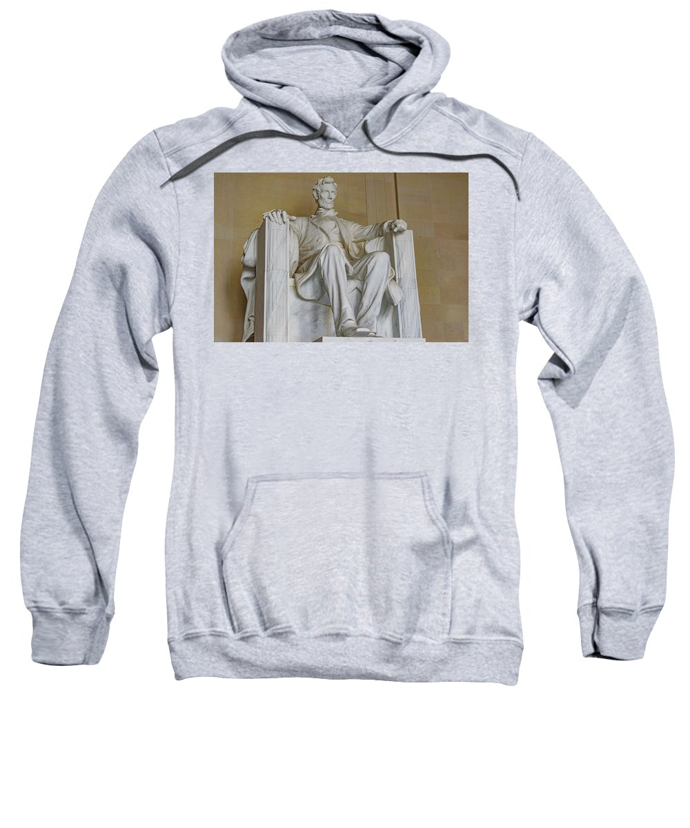 Lincoln Sweatshirt featuring the photograph Lincoln Statue by Cityscape Photography