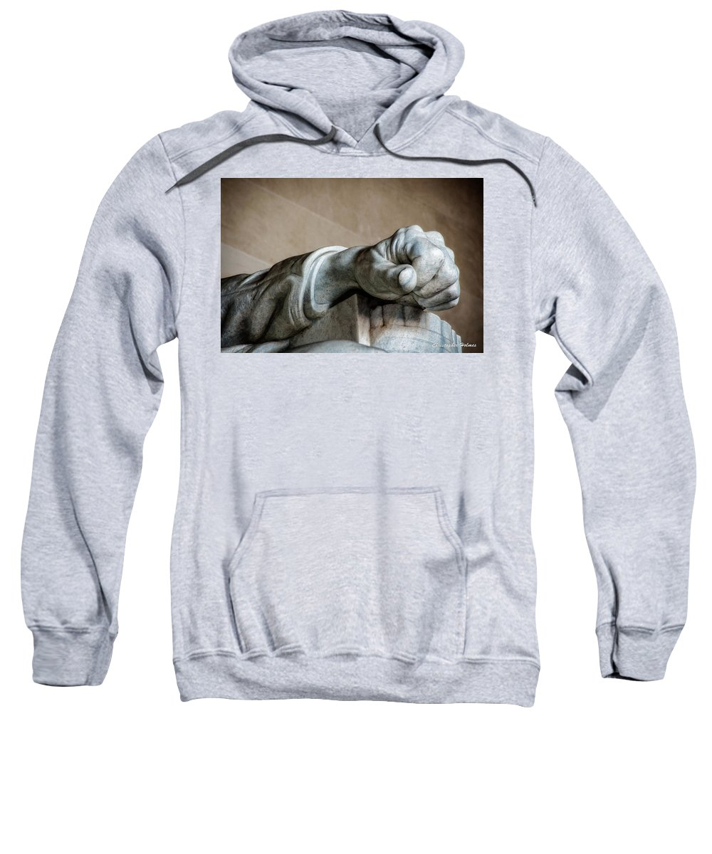 Hand Sweatshirt featuring the photograph Lincoln's Left Hand by Christopher Holmes