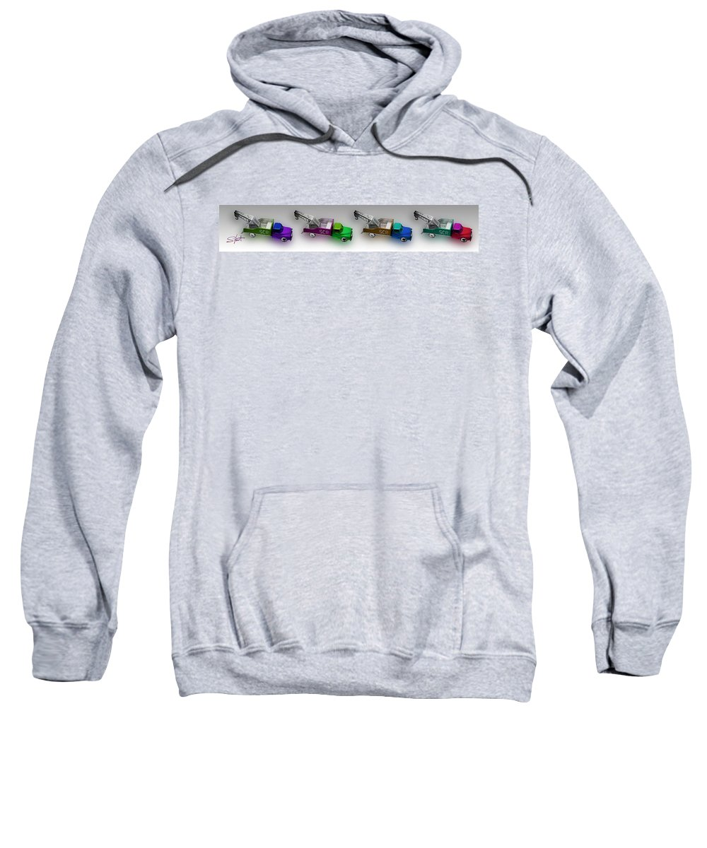 Toy Sweatshirt featuring the photograph Line Truckin by Charles Stuart