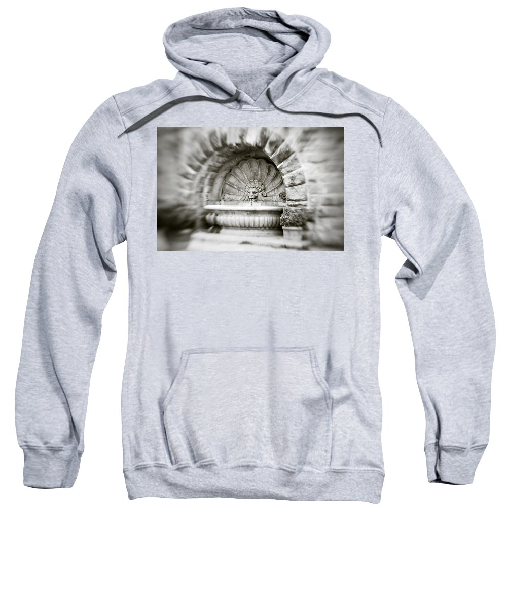 Lion Sweatshirt featuring the photograph Lion Head Fountain by Marilyn Hunt
