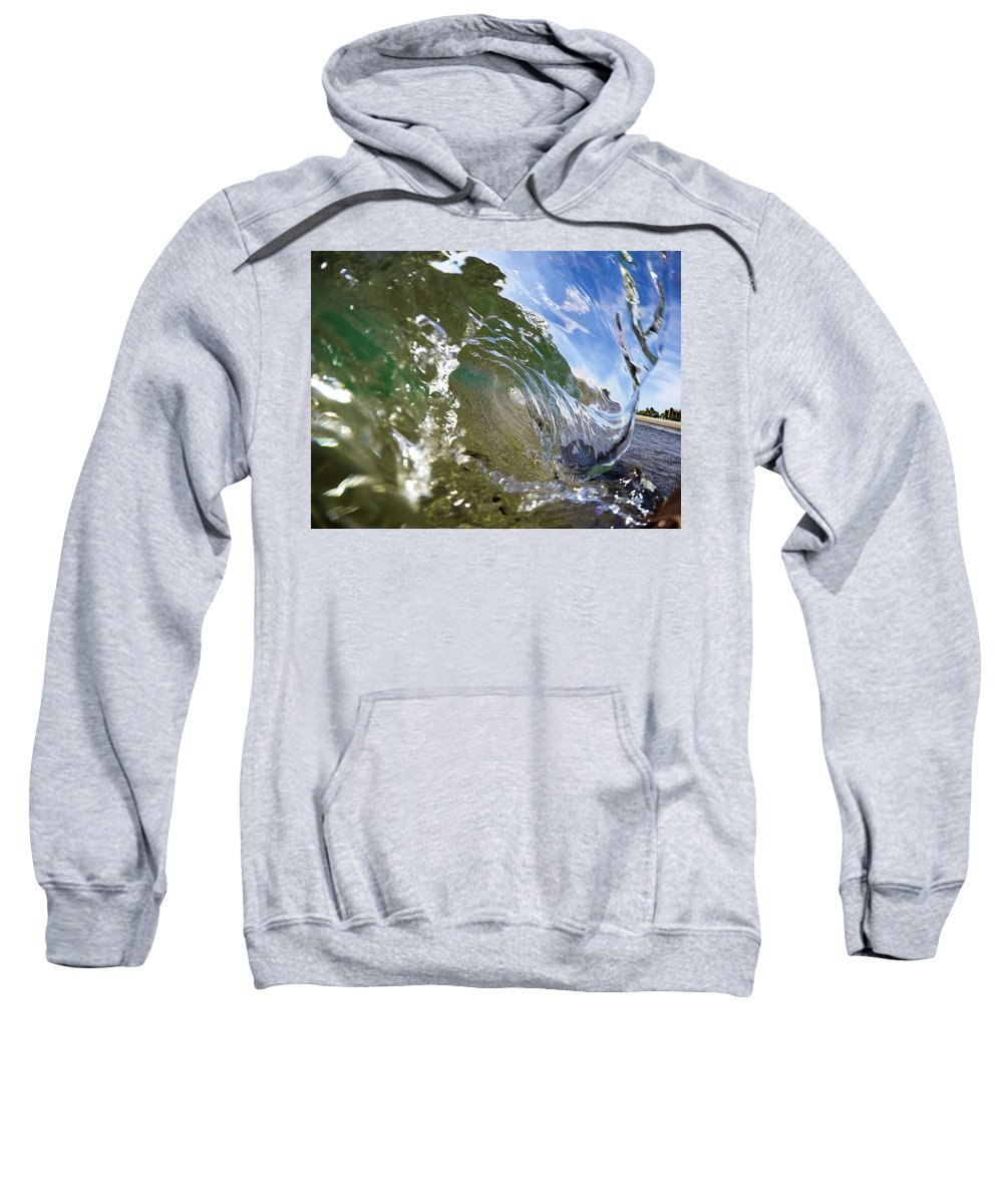 Waves Sweatshirt featuring the photograph Liquid Glass by Alexis Terrosa