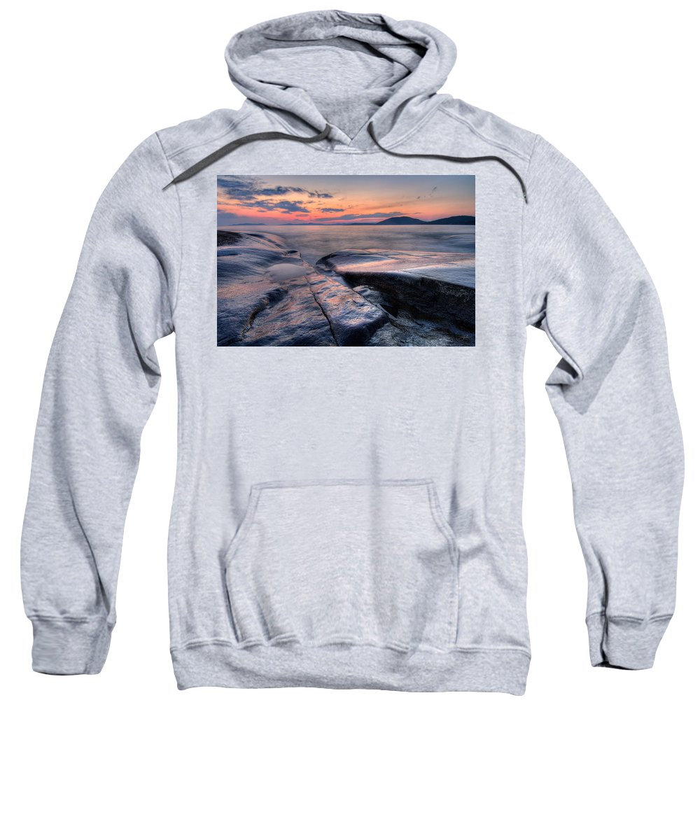 Canada Sweatshirt featuring the photograph Liquid Lagoon by Doug Gibbons