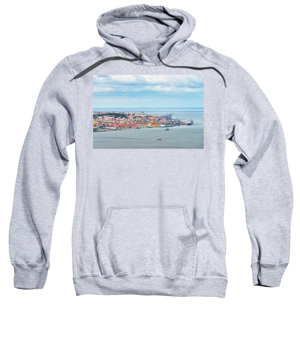 Lisbon Sweatshirt featuring the photograph Lisbon 10 by Tom Uhlenberg