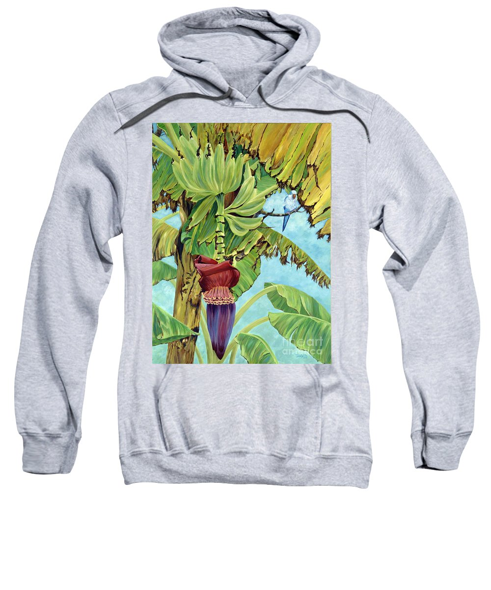 Tropical Sweatshirt featuring the painting Little Blue Quaker by Danielle Perry