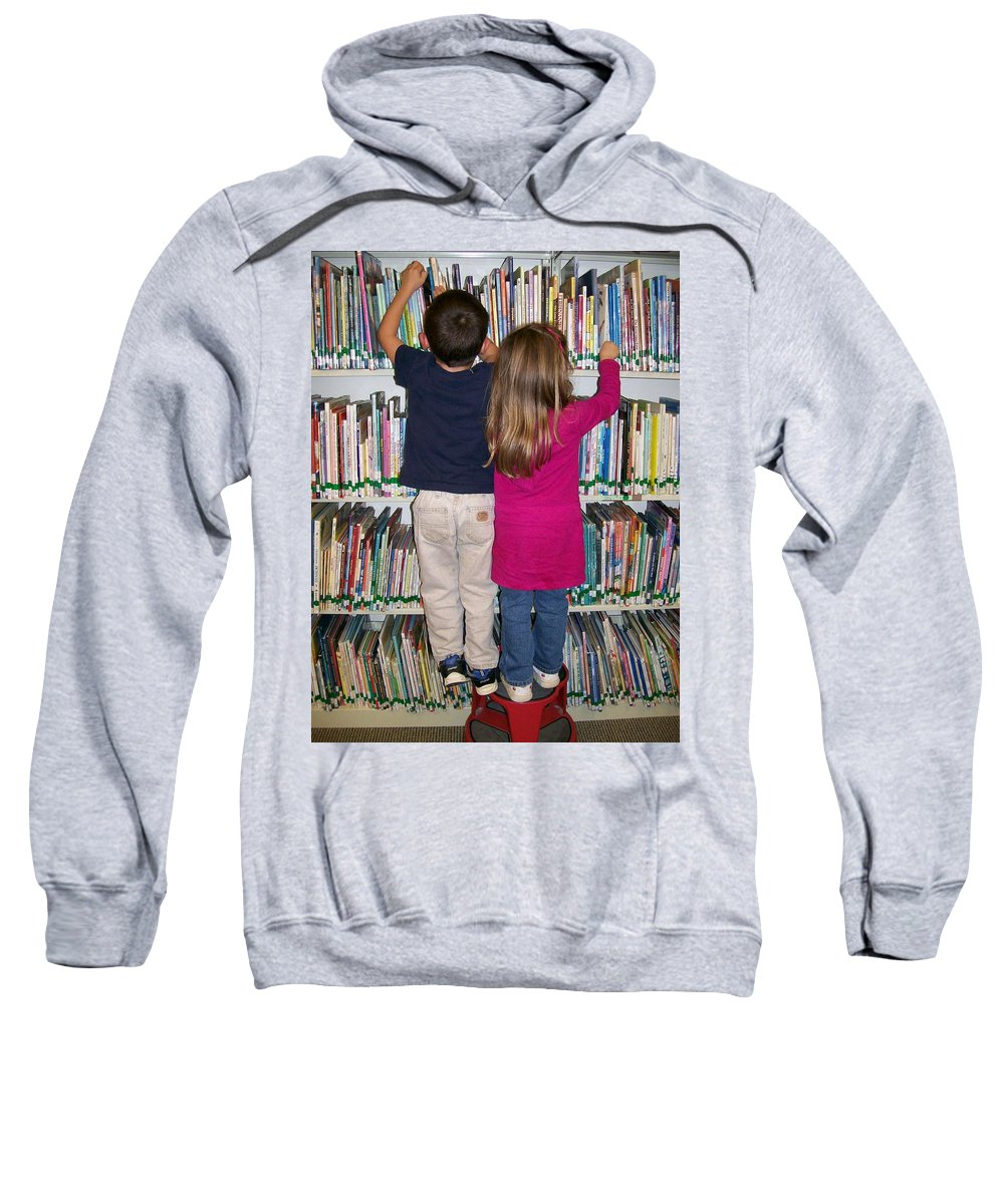 Photography Sweatshirt featuring the digital art Little Bookworms by Barbara S Nickerson