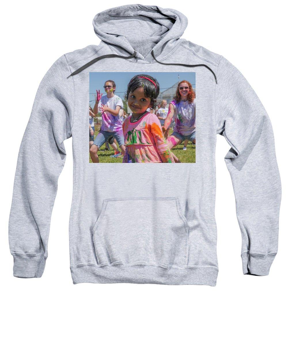 Little Girls Sweatshirt featuring the photograph Little Girl Smiles by Billy Joe