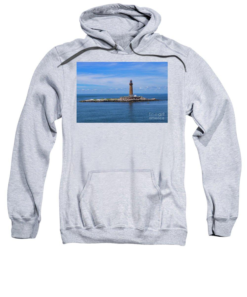 Connecticut Sweatshirt featuring the photograph Little Gull Lighthouse by Joe Geraci