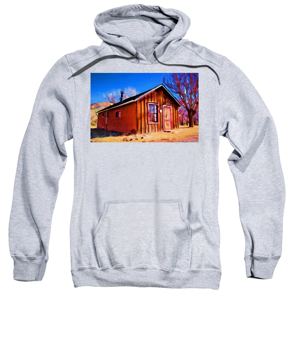 Little House Sweatshirt featuring the painting Little House In Lincoln by Jim Buchanan