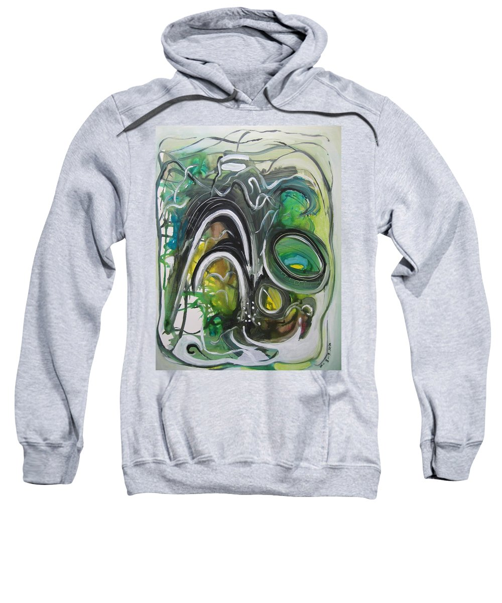 Abstract Paintings Sweatshirt featuring the painting little impression on Alexander trail by Seon-Jeong Kim