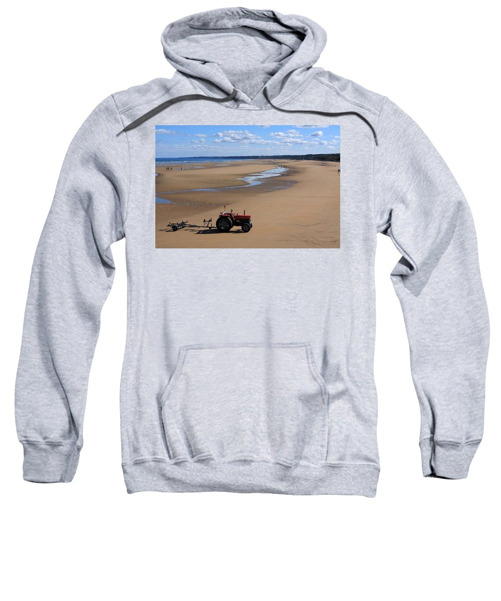 France Sweatshirt featuring the photograph Little Red Tractor by Aidan Moran