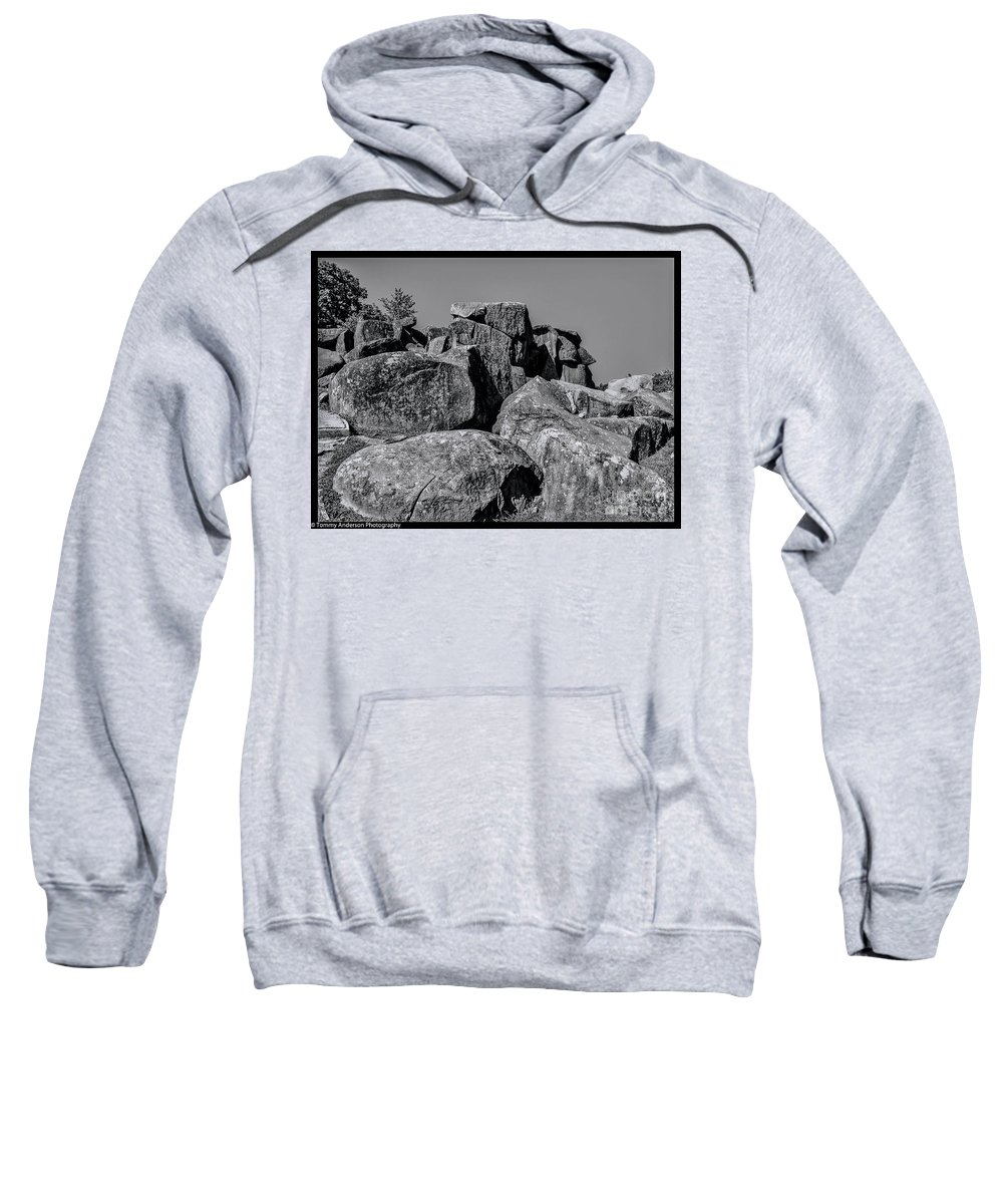 Gettysburg Sweatshirt featuring the photograph Little Round Top Gettysburg by Tommy Anderson