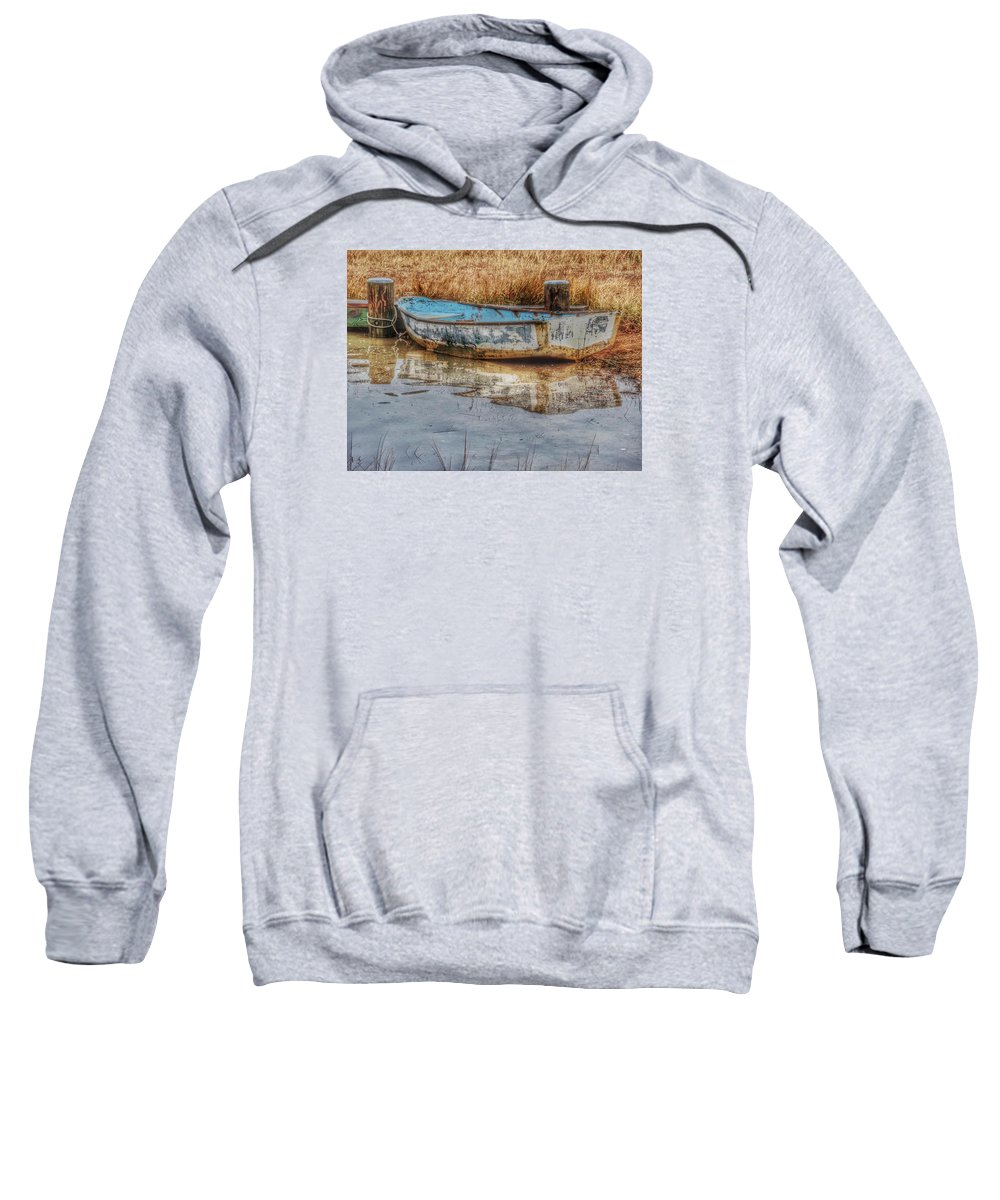 Boats Sweatshirt featuring the photograph Little Wooden Boat by Emily Sosa