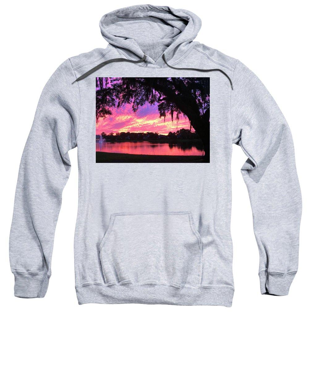 Sunset Sweatshirt featuring the photograph Live Oak Sunset by Rick Locke