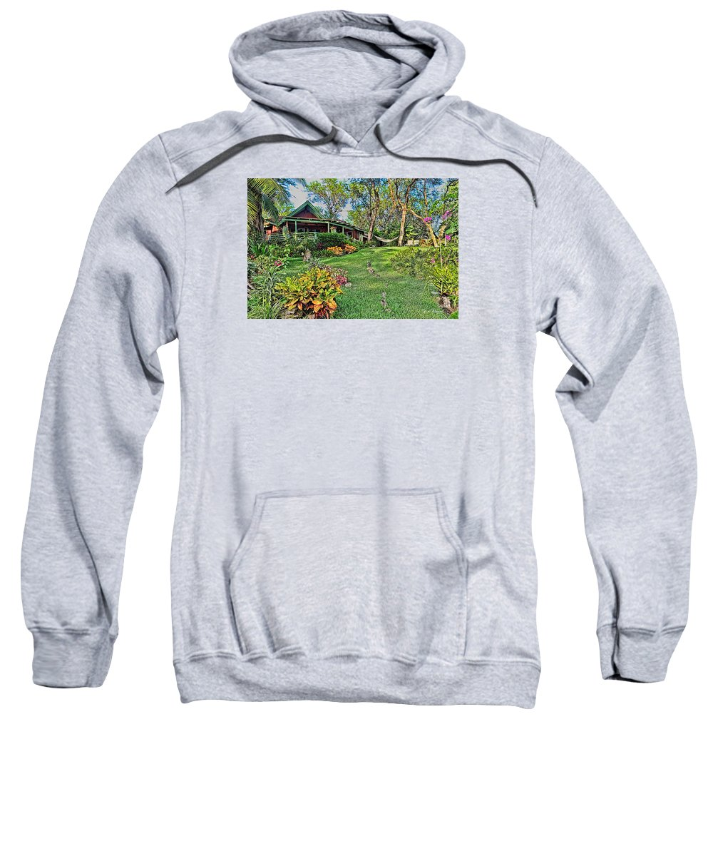 2015 Sweatshirt featuring the photograph Living In Paradise by Leon Roland